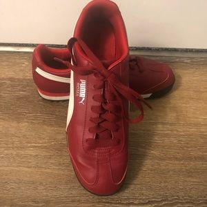 Red Puma Roma Sneakers - Size 9 - Worn Once!